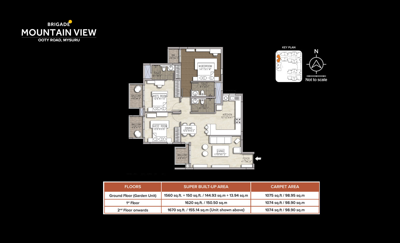 Plans 3 And 4 5 Bhk Apartments In Mysuru Brigade Mountain View